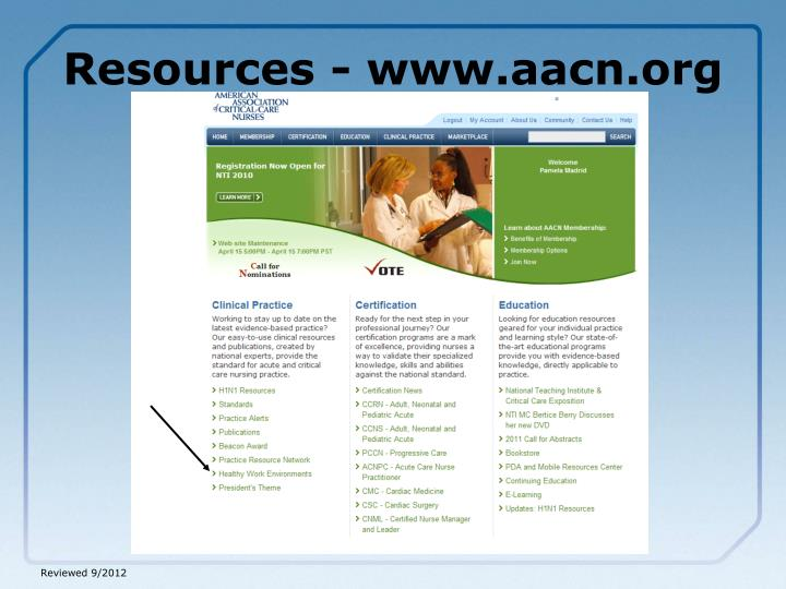 Resources - www.aacn.org