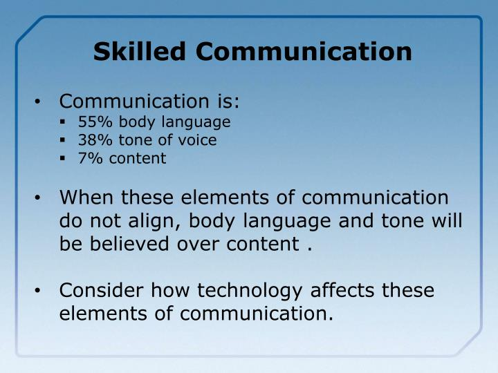 Skilled Communication