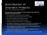distribution of insurance products chair prof ioannis rokas greece