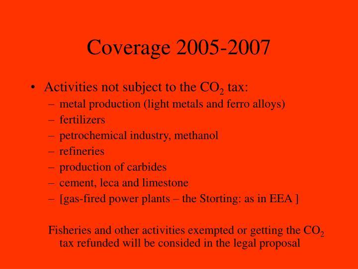 Coverage 2005-2007