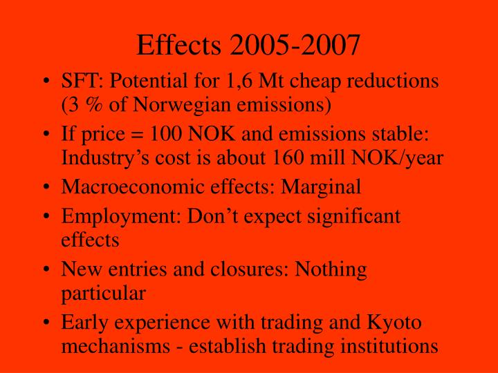 Effects 2005-2007
