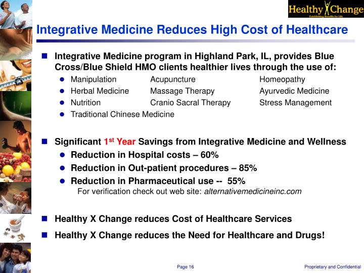 Integrative Medicine Reduces High Cost of Healthcare