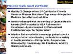phase ii of health wealth and wisdom
