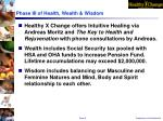 phase iii of health wealth wisdom