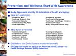 prevention and wellness start with awareness