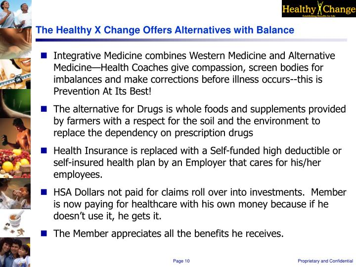 The Healthy X Change Offers Alternatives with Balance