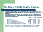 the time is now for healthy x change