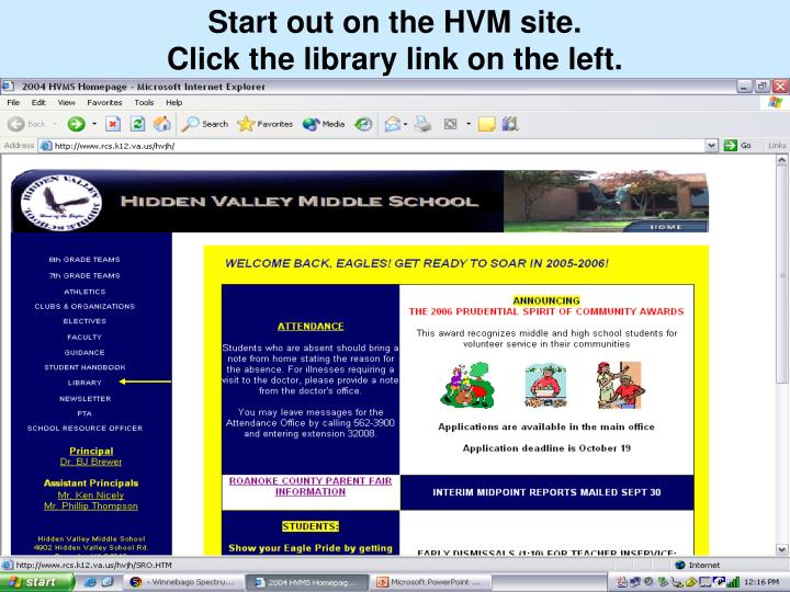 Start out on the HVM site.