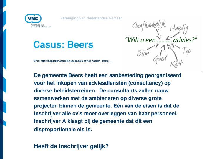 Casus: Beers