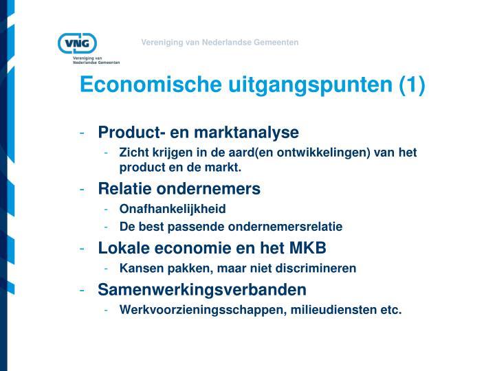 Economische uitgangspunten (1)