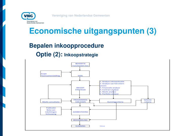 Economische uitgangspunten (3)