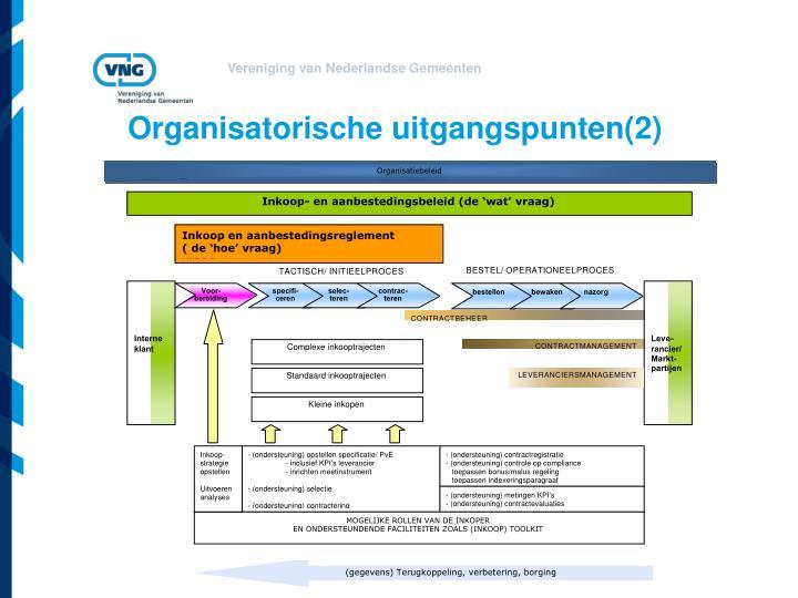 Organisatorische uitgangspunten(2)