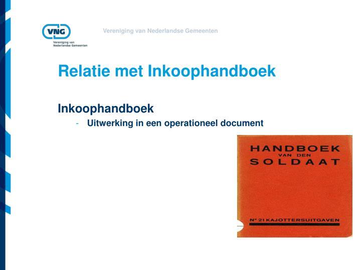 Relatie met Inkoophandboek