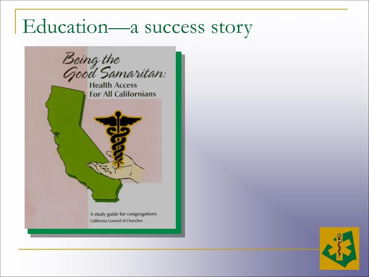 Education—a success story