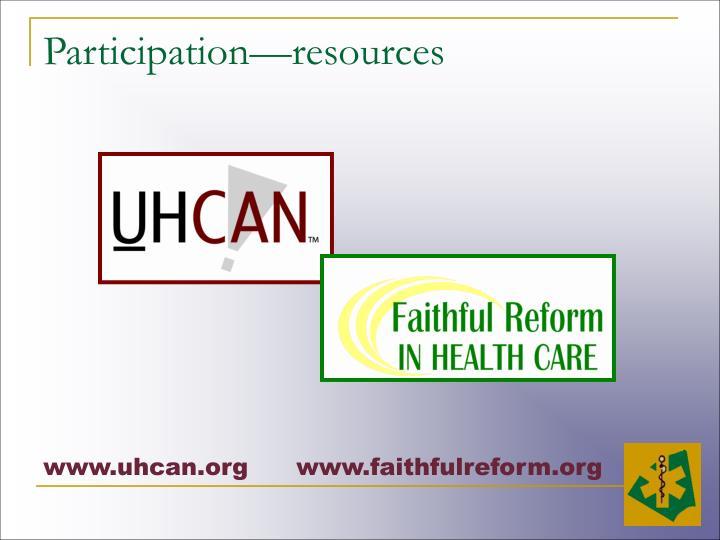 Participation—resources