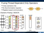 fusing thread dependent only operators