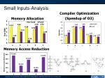 small inputs analysis