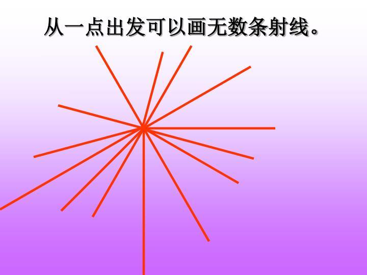 从一点出发可以画无数条射线。