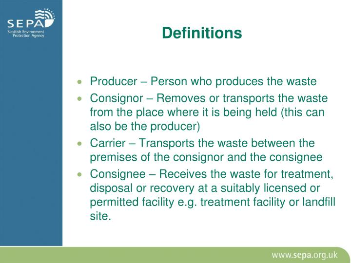 Producer – Person who produces the waste