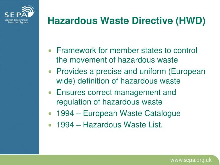 Hazardous Waste Directive (HWD)