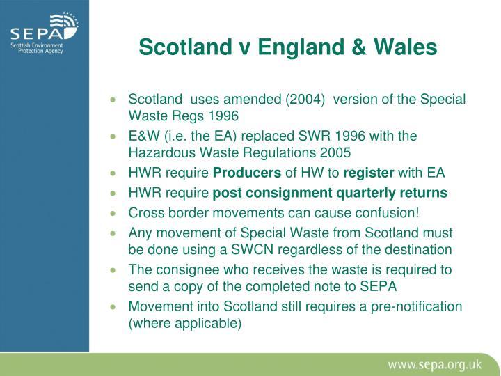 Scotland v England & Wales