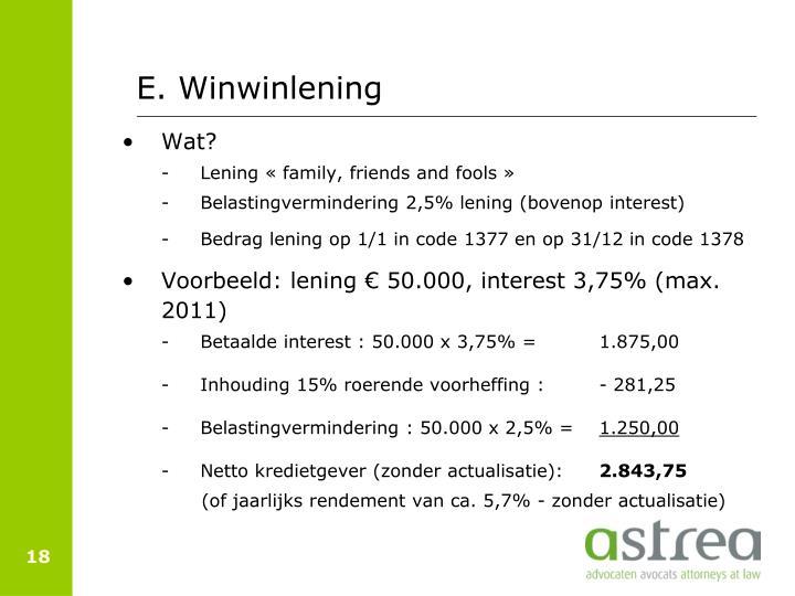 E. Winwinlening
