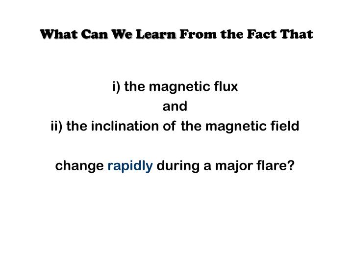 What Can We Learn