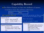 capability record