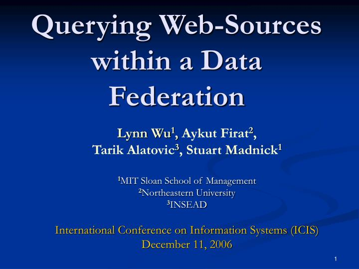 Querying web sources within a data federation