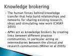 knowledge brokering