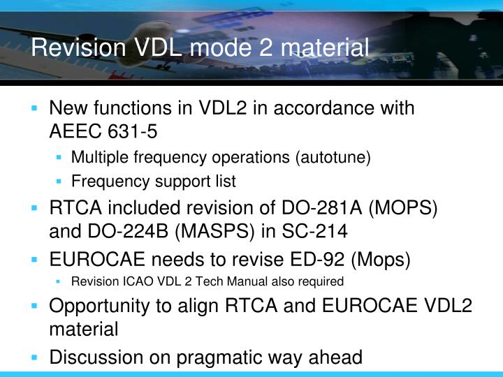 Revision VDL mode 2 material