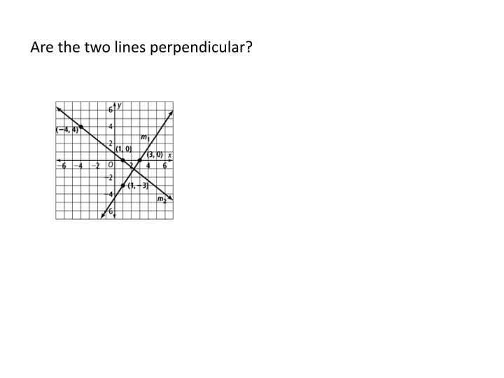 Are the two lines perpendicular?