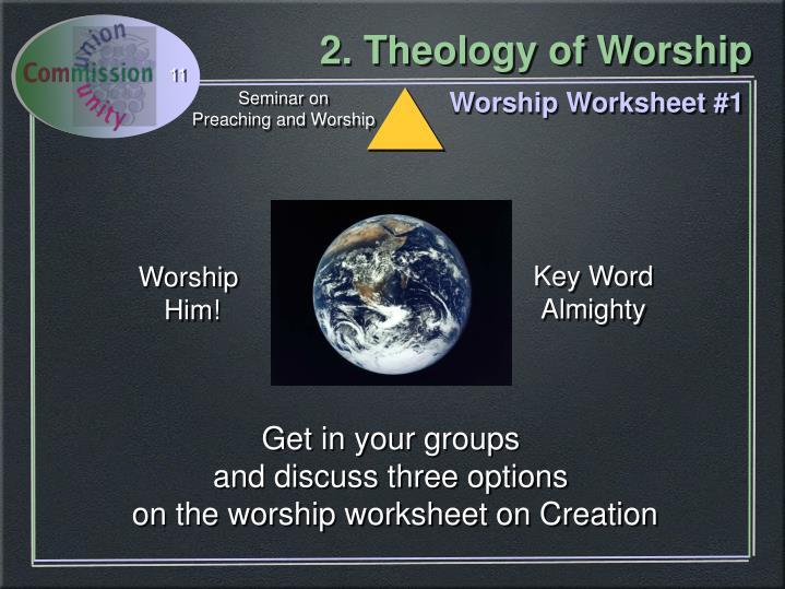 Worship Worksheet #1