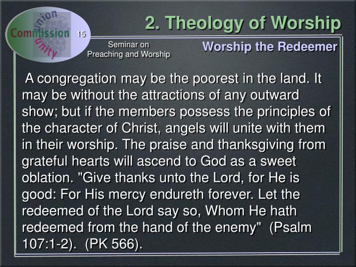 Worship the Redeemer
