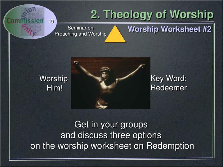 Worship Worksheet #2