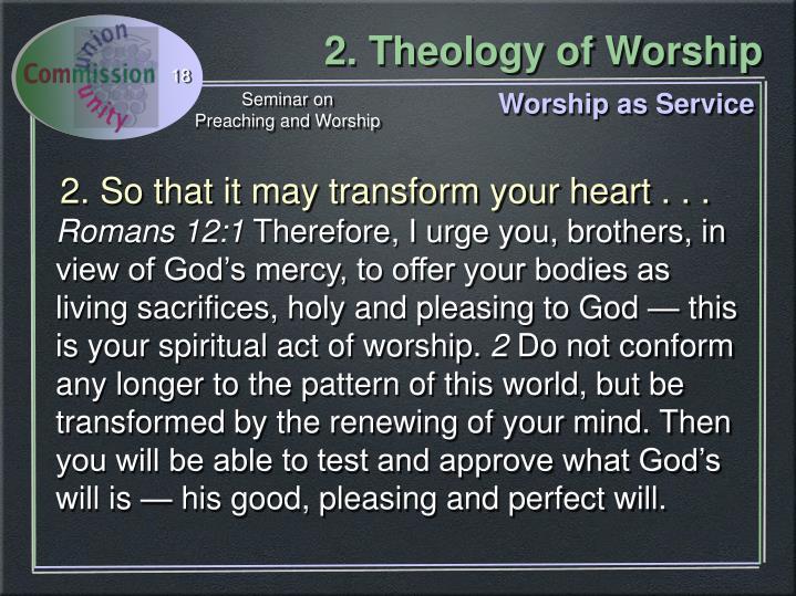 Worship as Service