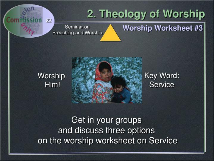 Worship Worksheet #3