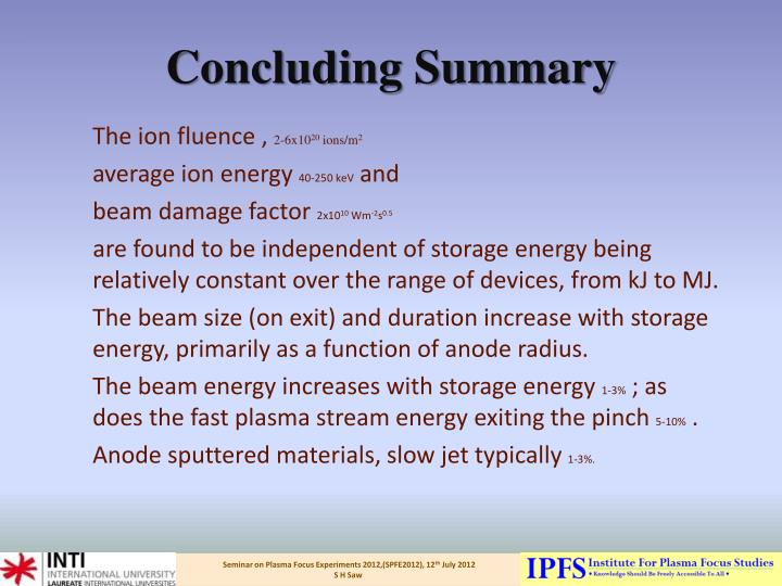 Concluding Summary