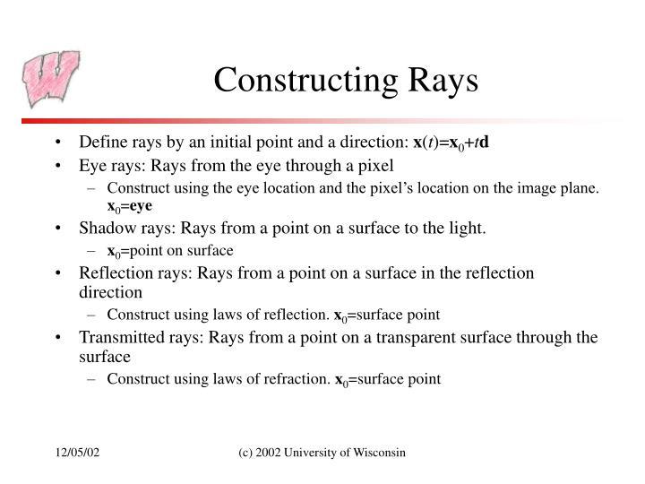 Constructing Rays