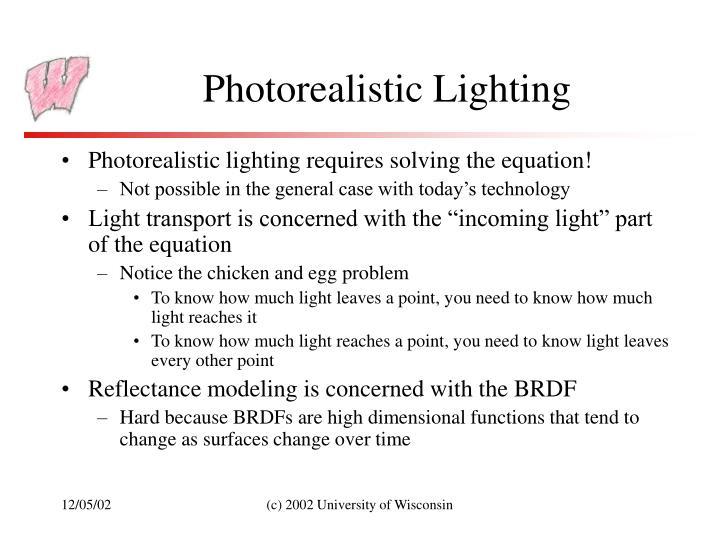 Photorealistic Lighting