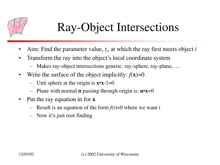 Ray-Object Intersections