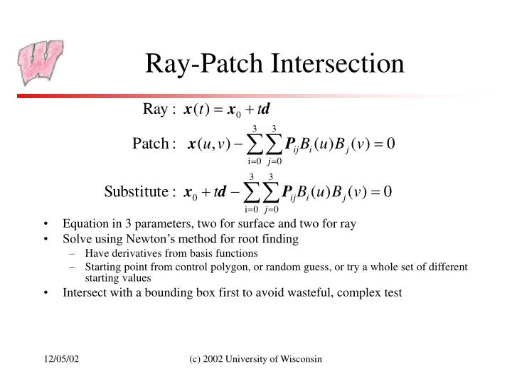 Ray-Patch Intersection