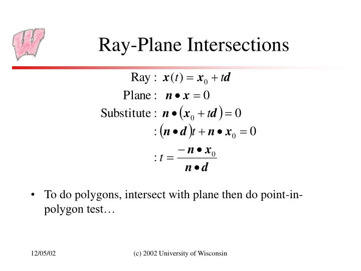 Ray-Plane Intersections