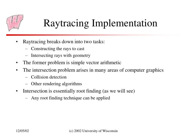 Raytracing Implementation