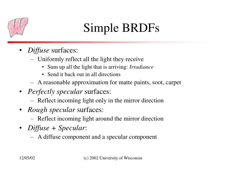 Simple BRDFs