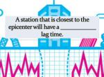 a station that is closest to the epicenter will have a lag time