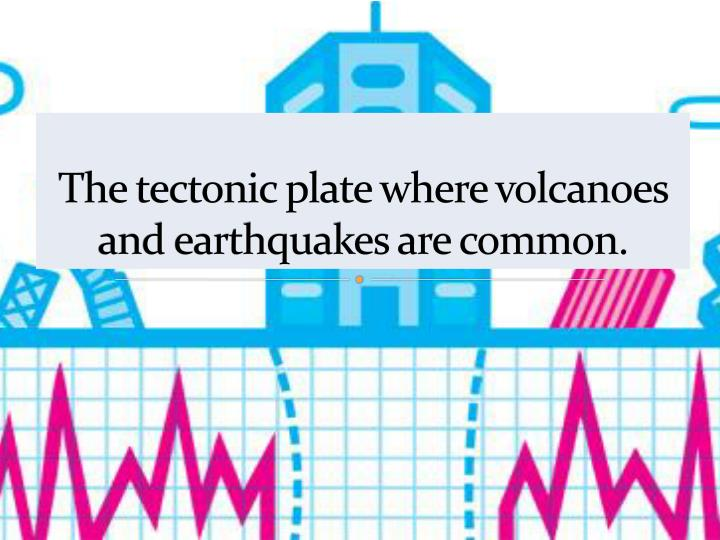 The tectonic plate where volcanoes and earthquakes are common.