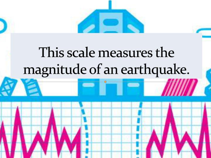 This scale measures the magnitude of an earthquake.