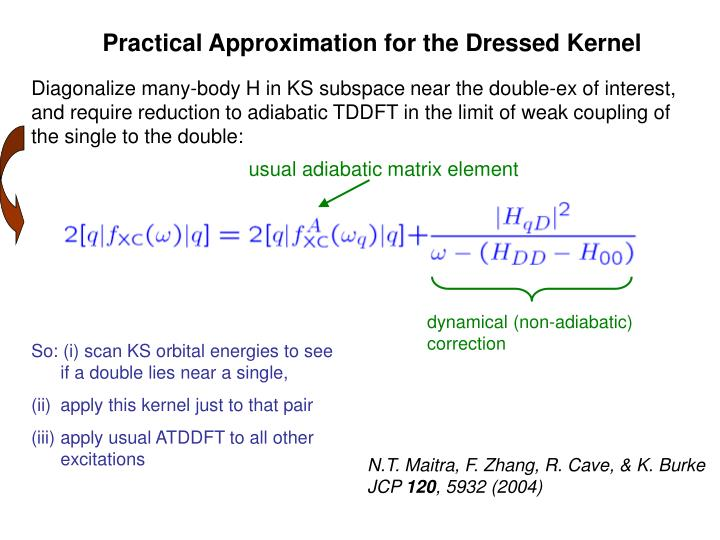 Practical Approximation for the Dressed Kernel