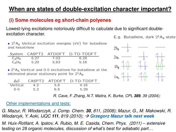 When are states of double-excitation character important?